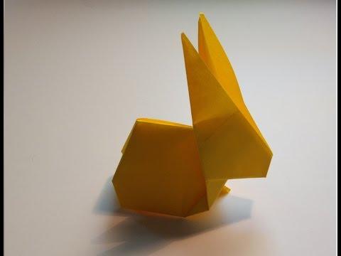 Como hacer un conejo de papel facil
