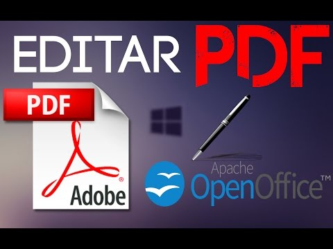 COMO EDITAR PDF Open Office windows