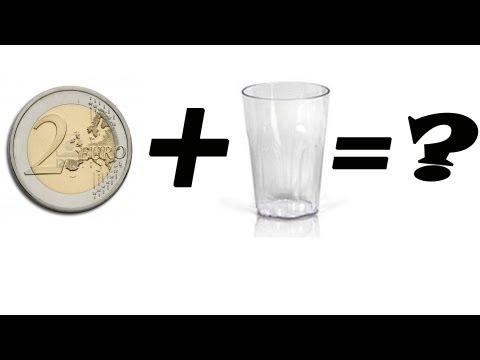 Cómo hacer desaparecer una moneda con un vaso - Chindas12