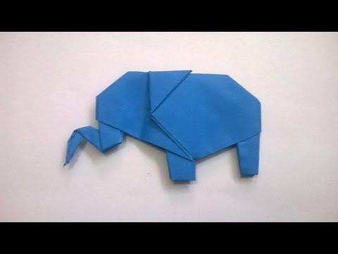 ORIGAMI: ELEFANTE DE PAPEL - origami paper elephant