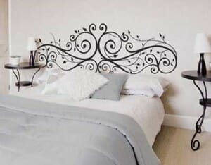 Ideas cabeceros de cama originales for Vinilo cabecero cama
