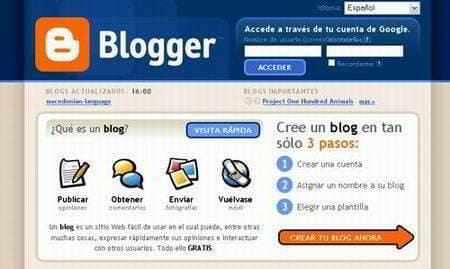 crear blog gratis blogger