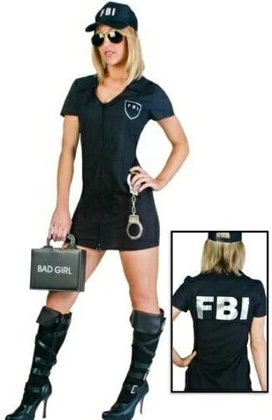 disfraz fbi casero