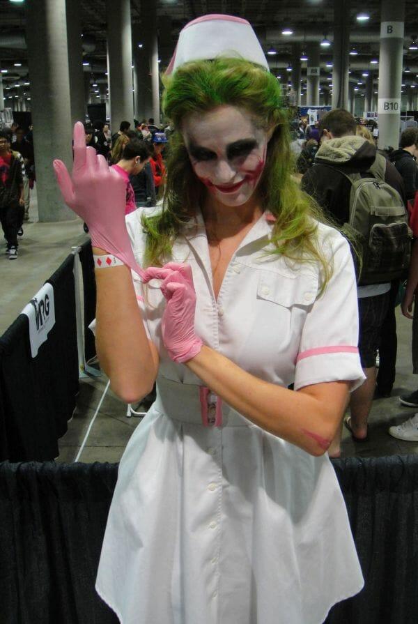 disfraz joker enfermera