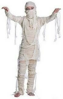 disfraz casero momia