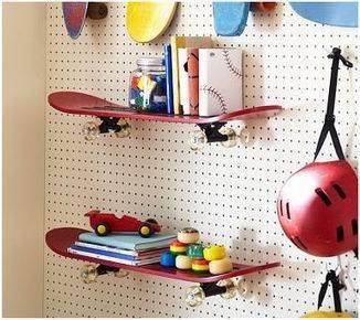 estanteria con skate