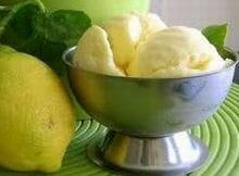 helado casero limon