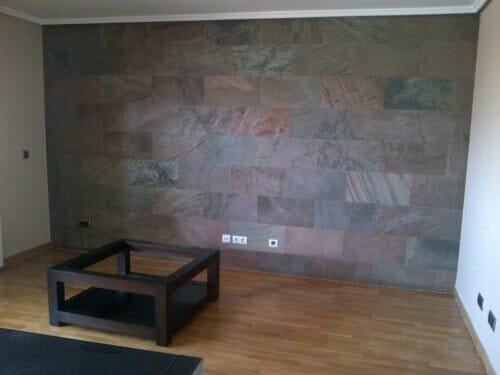 imitacion piedra decorar pared