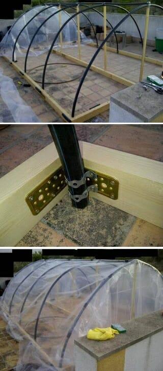 invernadero casero maderas tubos