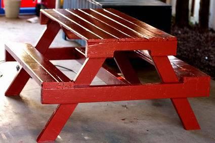 Como hacer muebles con palets for Bancos de jardin hechos con palets