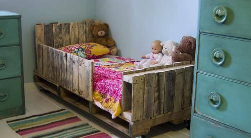 cama palets para  niño