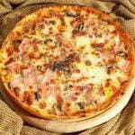 pizza jamon queso