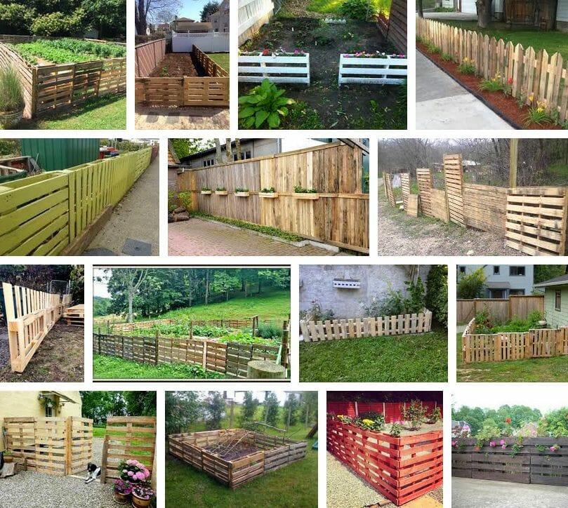 valla jardin palets madera
