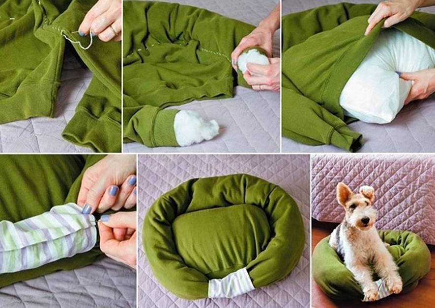 cama casera para perros