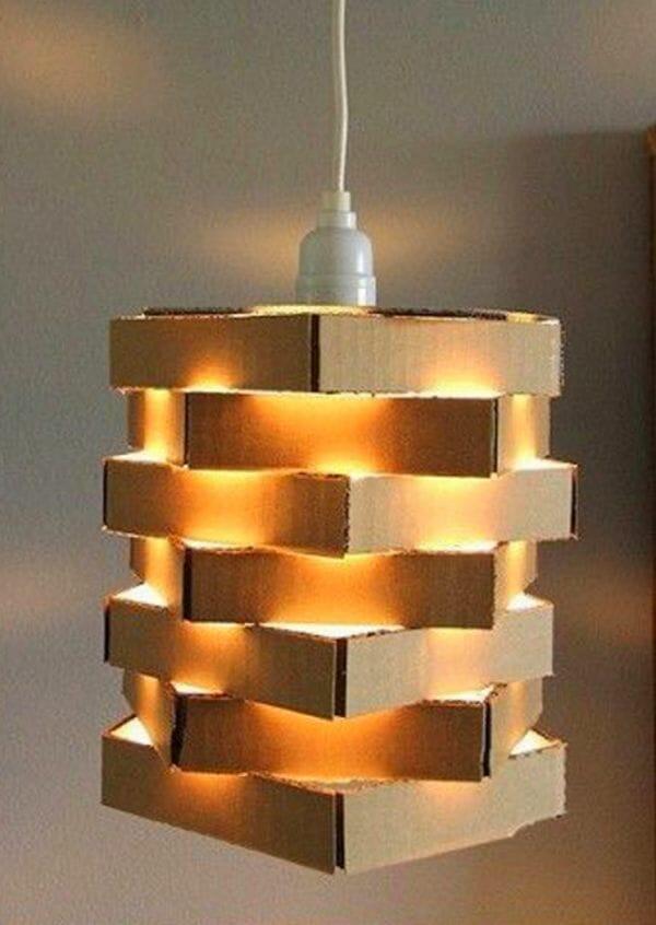 lampara casera carton