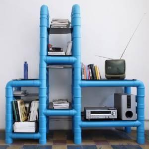 mueble tubos pvc