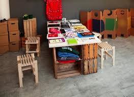 muebles materiales reciclados