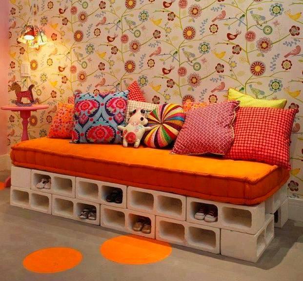 sofa casero muebles hormigon
