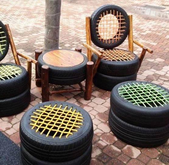 sillas neumaticos usados