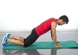 flexiones brazos rodillas