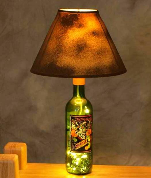 lamapara casera botella de vidrio