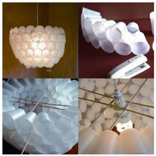 lampara vasos plastico