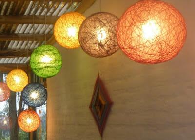lamparas cuerda colores