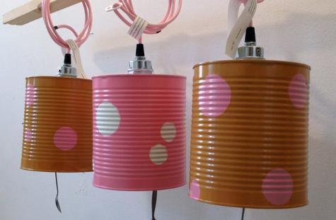 lampara latas conserva