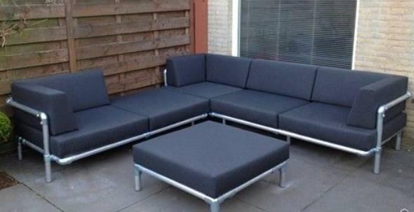 muebles jardin tubos pvc