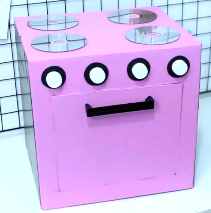 cocina juguete casera