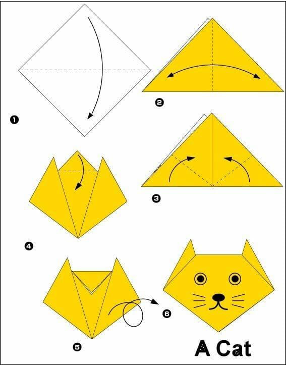 papiroflexia-cara-gato