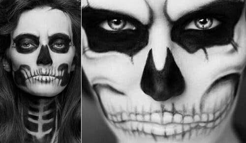 maquillaje esqueleto halloween