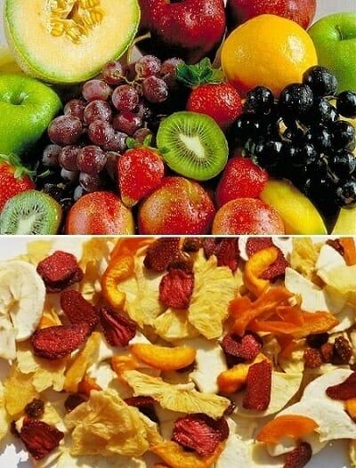 hacer frutas deshidratadas