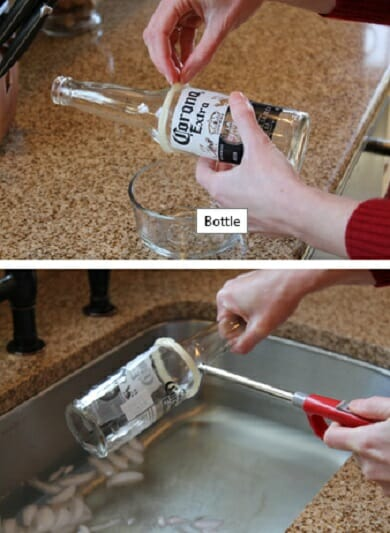 vasos botellas vidrio