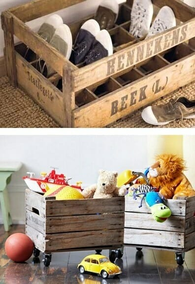 almacenaje cajas madera