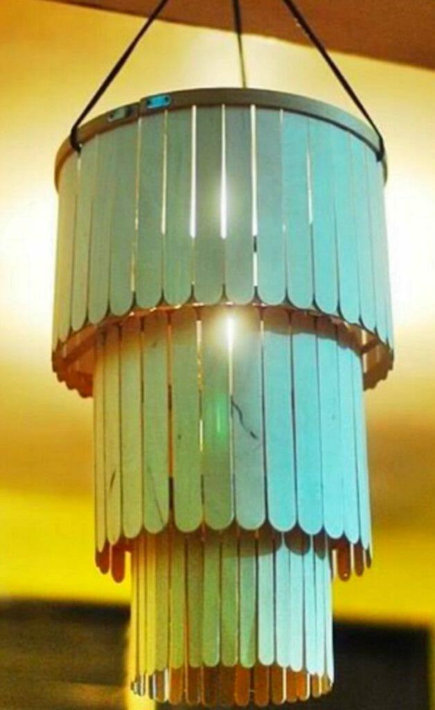 ideas para hacer lamparas de techo 35 Ideas De Manualidades Con Palitos De Helado