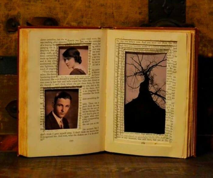 marco fotos libro viejo